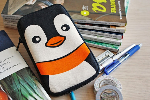 Joyful Penguin Butterfly Pencil Pouch