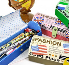 Trendy Travel Semi-Cylinder Pencil Boxes