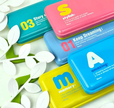 Inspirational Letter and Number Tin Pencil Cases