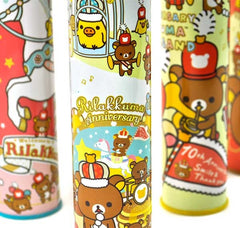 Rilakkuma Wonderland Cylinder Tin Pencil Cases with Built-In Sharpener