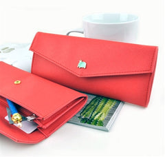 Elephant Charm Wallet Pencil Pouch