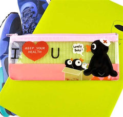 Penguin's Life Slim Clear Pencil Case