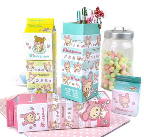 Bunny-Costume Rilakkuma Milk Carton Pencil Box