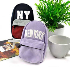 New York Cotton Backpack Pencil Pouch