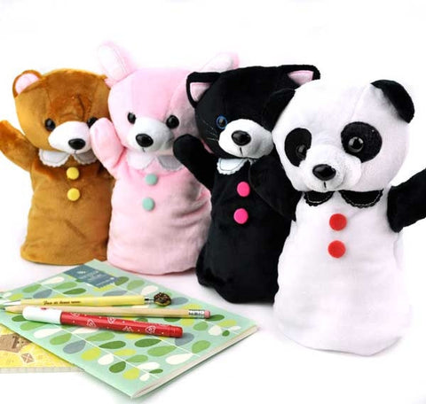 Critter Cuties Plush Hand Puppet Pencil Pouch