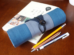Osamu Slate Japanese Pencil Roll Case