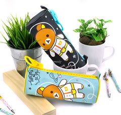 Rilakkuma's Big Zipper Blast Off To Space Pencil Case