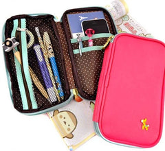 Giraffe Charm Wallet and Pencil Pouch Duo