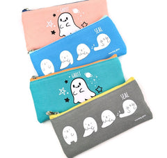 Ghost and Seal Slim Pencil Pouch