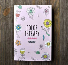 Color Therapy Notebook-Flowers