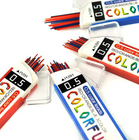 Sliding 0.5mm Colorful Lead Refill