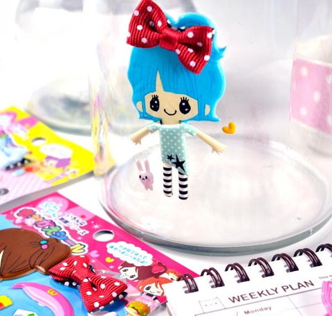 Trendy Girl 3D Soft Stickers