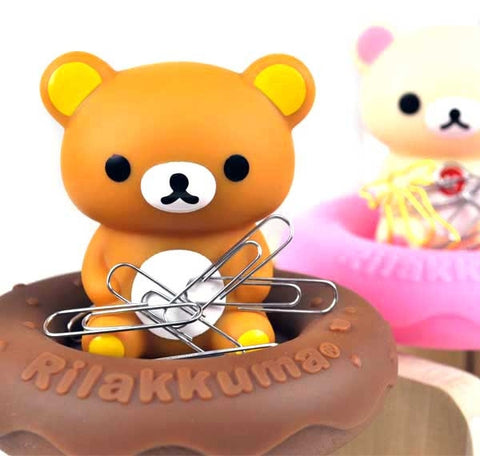 Rilakkuma and Korilakkuma Magnetic Paper Clip Holder