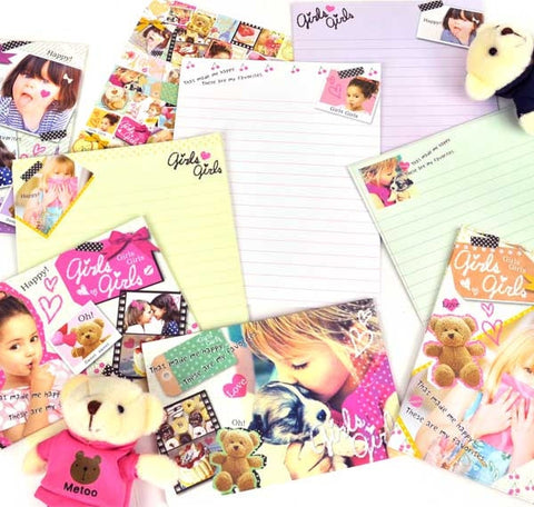 Quirky Girl Stationery Set