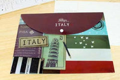 Around the World Horizontal Subject Envelope