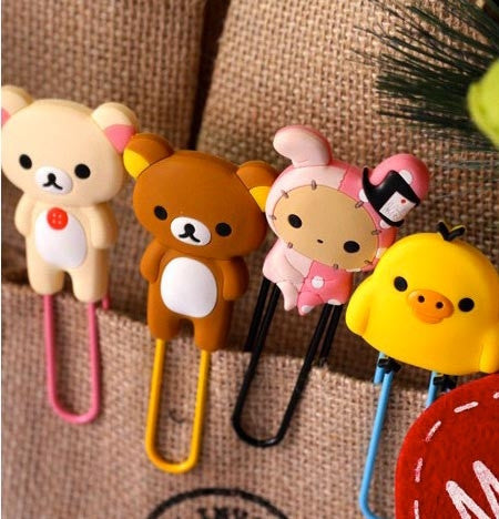 Rilakkuma & Sentimental Circus Bookmark Clips