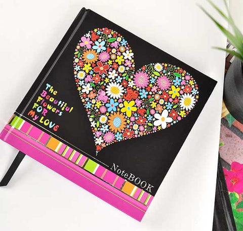 Floral Heart Writing Journal
