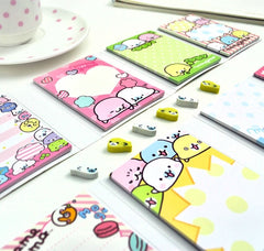 Mamegoma Notepad Set with Bonus Mini Erasers