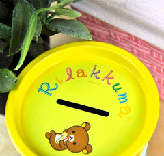Rilakkuma Picnic Tin Barrel Coin Bank
