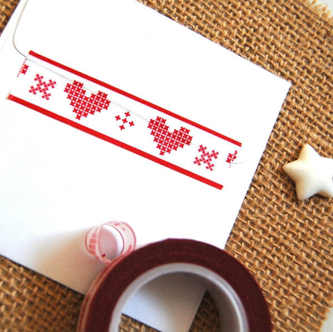 Stitched Heart Washi Tape