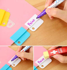 Easy Rainbow Dry-Erase Index Clip Set