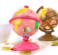 Rilakkuma Chocolate and Coffee Tin Globe Coin Bank