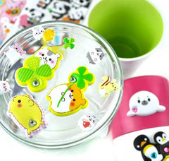 World of Animal Buddies Puffy Gem Stickers