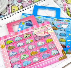 Mamegoma Seals Suitcase Sticker Set