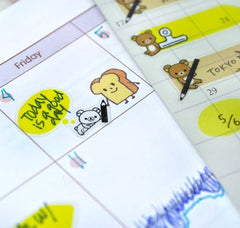Rilakkuma Speech Bubble and Planner Sticker Collection