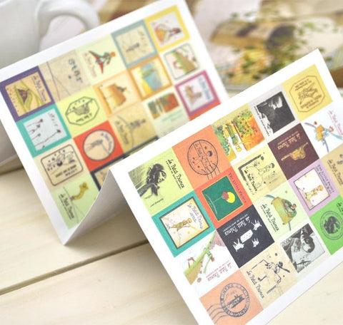 The Little Prince Vintage Stamp Stickers