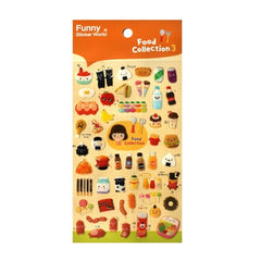 Foodie World Sticker Collection