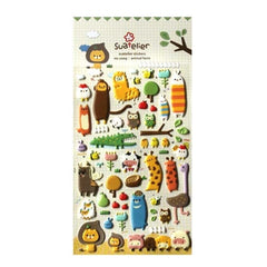 Animal Family 3-D Stickers