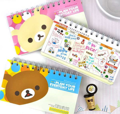 Plan Your Everyday Life Rilakkuma Weekly Planner