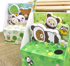 Rilakkuma Panda Costume Notepad Set and Pen Holder