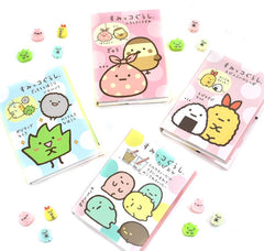 Sumikko Gurashi Mini Memo Pad with Mini Erasers