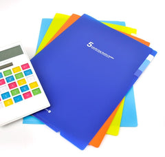 Colorful 5 Subject Slim Folders