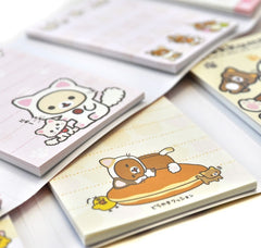 Rilakkuma Kitty Costume Notepad Set with Mini Erasers
