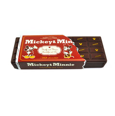 Disney Character Chocolate Bar Pencil Box-Chocolate Micky and Minnie