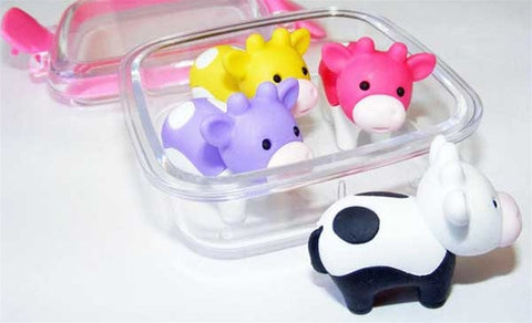 Cow Eraser Set
