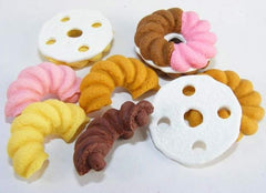 French Pastry Erasers