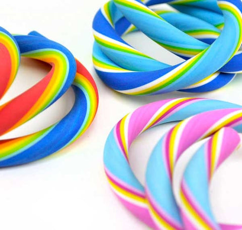 Colorful Swirl Twisty Noodle Erasers