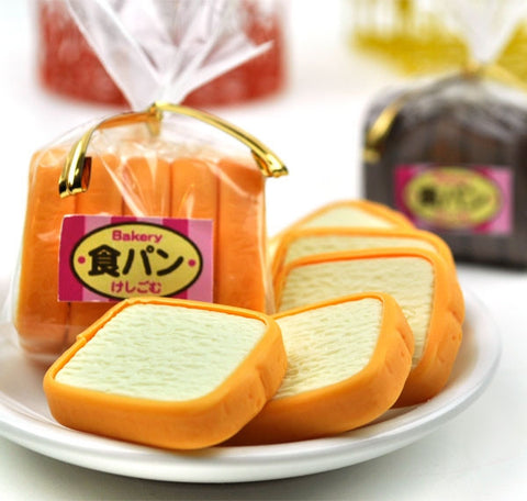 Sliced Bread Loaf Erasers
