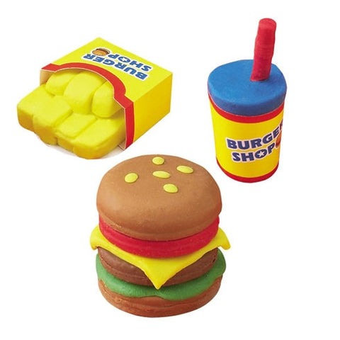 Do-It-Yourself Scented Clay Eraser Hamburger Set