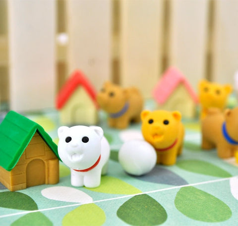 Playful Dog Eraser Collection
