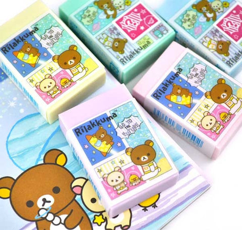 Rilakkuma in Space Scented Eraser with Surprise Mini Eraser