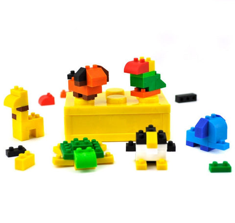 Animal Building Block Erasers