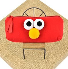 Eye Express My Emotions Pencil Pouch- Happy Elmo (Red)