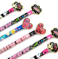 Fun Graphic and Jewel 2B Wooden Pencils