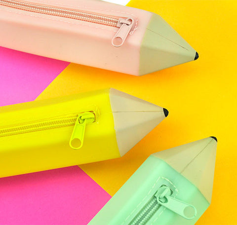 Giant Silicon Pencil Shaped Pencil Case