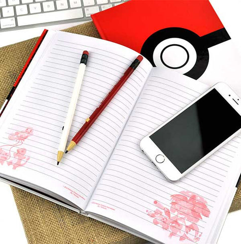 Hardcover Pokeball Notebook